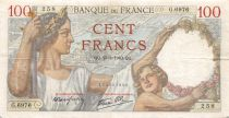 France 100 Francs Sully - 25-01-1940 Serial G.6976 - VF