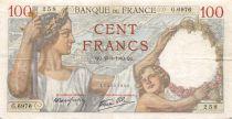 France 100 Francs Sully - 25-01-1940 Serial G.6976 - VF