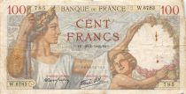 France 100 Francs Sully - 25-01-1940 Serial W.6783 - F
