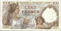France 100 Francs Sully - 26-10-1939 Serial R.3549 - F