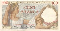 France 100 Francs Sully - 28-09-1939 Serial A.1613 - VF