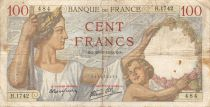 France 100 Francs Sully - 28-09-1939 Serial H.1742 - F