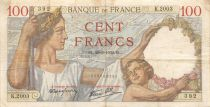 France 100 Francs Sully - 28-09-1939 Serial K.2003 - F+