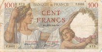 France 100 Francs Sully - 28-09-1939 Serial P.2005 - VG to F