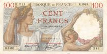 France 100 Francs Sully - 28-09-1939 Serial R.1585 - VF