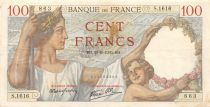 France 100 Francs Sully - 28-09-1939 Serial S.1616 - VF