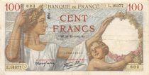 France 100 Francs Sully - 28-11-1940 Serial L.16377 - VF