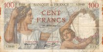 France 100 Francs Sully - 28-12-1939 Serial S.5949 - F