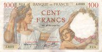 France 100 Francs Sully - 28-12-1939 Serial Z.6029 - VF