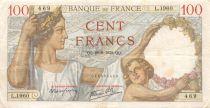 France 100 Francs Sully - 29-09-1939 Serial L.1960 - VF