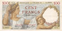France 100 Francs Sully - 30-01-1941 Serial Q.18623 - VF