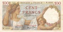 France 100 Francs Sully - 30-01-1941 Serial W.18525 - VF