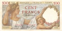 France 100 Francs Sully - 30-04-1941 Serial V.21475 - VF+