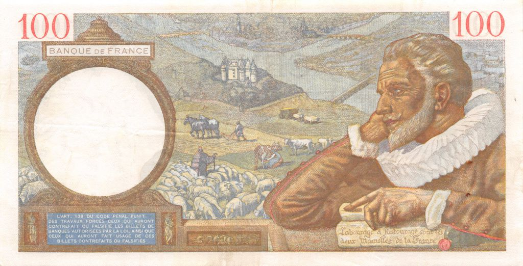 France 100 Francs Sully - 30-04-1941 Série S.21428 - TTB+