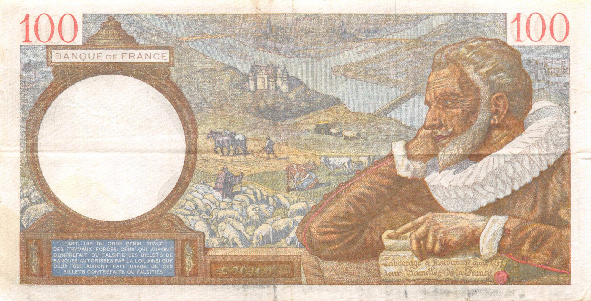 France 100 Francs Sully - 30-04-1941 Série Y.21325 - TTB