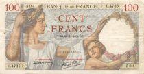 France 100 Francs Sully - 30-11-1939 Serial G.4735 - F+