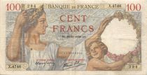 France 100 Francs Sully - 30-11-1939 Serial X.4746 - F+