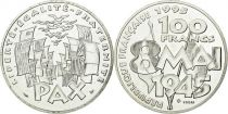 France 100 Francs Victoire 2è Guerre Mondiale 8 Mai 1945 - Essai - Argent