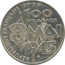 France 100 Francs Victory in Europe WWII - 8 May 1945