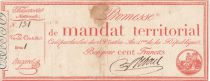 France 100 Francs with serial - 28 Ventose An IV (18.03.1796) - Fine + - Serial 1