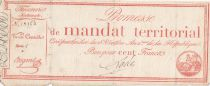 France 100 Francs with serial - 28 Ventose An IV (18.03.1796) - Fine + - Serial 5