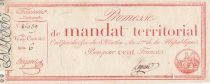 France 100 Francs with serial - 28 Ventose An IV (18.03.1796) - Fine +