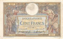France 100 Francs Women and childs - 02-05-1921  Serial X.7565 - F+