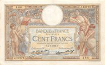 France 100 Francs Women and childs - 04-01-1929 Serial J.23778 - VF