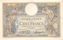 France 100 Francs Women and childs - 05-03-1925 Serial S.11931 - F to VF