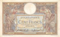 France 100 Francs Women and childs - 07-11-1918  Serial N.5260 - VF