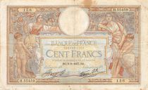 France 100 Francs Women and childs - 09-09-1937 Serial H.55459 - F