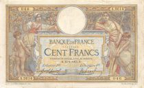 France 100 Francs Women and childs - 11-01-1915  Serial A.2614 - F to VF