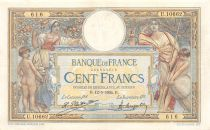 France 100 Francs Women and childs - 12-05-1924 Serial U.10662 - VF