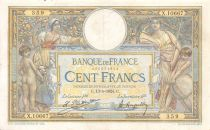 France 100 Francs Women and childs - 13-05-1924 Serial X.10667 - VF