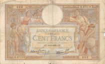 France 100 Francs Women and childs - 14-09-1939 Serial K.67519 - F