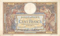 France 100 Francs Women and childs - 16-04-1921  Serial F.7516 - F+