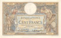 France 100 Francs Women and childs - 18-02-1925 Serial T.11871-888 - VF