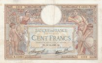 France 100 Francs Women and childs - 21-10-1937 Serial F.55991