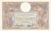 France 100 Francs Women and childs - 21-10-1937 Serial L.55918