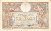 France 100 Francs Women and childs - 21-10-1937 Serial N.55935 - VF