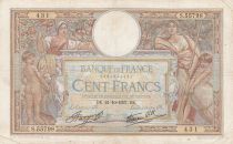 France 100 Francs Women and childs - 21-10-1937 Serial S.55798