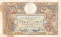 France 100 Francs Women and childs - 21-10-1937 Serial W.55722 - G+