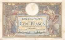 France 100 Francs Women and childs - 23-06-1921  Serial D.7738 - VF