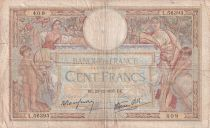 France 100 Francs Women and childs - 23-12-1937 - Serial L.56393 - F
