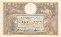 France 100 Francs Women and childs - 24-07-1915  Serial C.2939 - VF