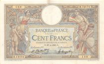 France 100 Francs Women and childs - 27-04-1925 Serial H.12172-188 - VF