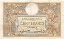 France 100 Francs Women and childs - 28-08-1930 Serial J.26374 - VF