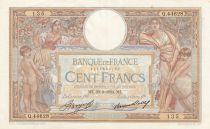 France 100 Francs Women and childs - 29-03-1934 Serial Q.44628