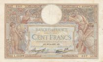 France 100 Francs Women and childs - 30-09-1937 Serial L.55589