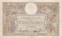 France 100 Francs Women and childs - 30-09-1937 Serial Z.55648